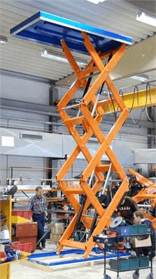 подъемные столы с вертикальными ножницами